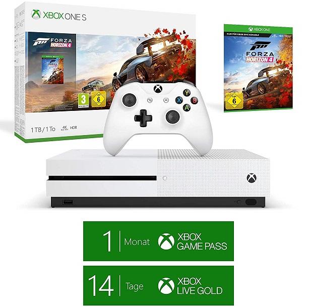Bild zu Microsoft Xbox One S 1TB Forza Horizon 4 Bundle für 166€ (Vergleich: 229,98€)