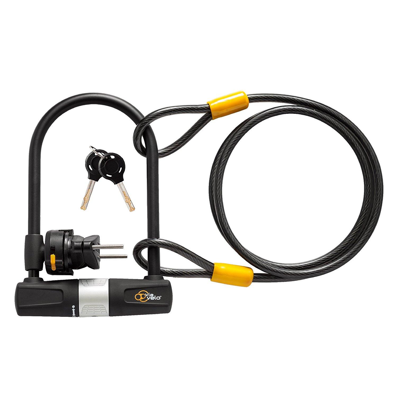 Bild zu [Prime] Via Velo Fahrrad-Bügelschloss mit 1,8 Meter Kabel für 11,98€