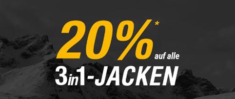 Bild zu Jack Wolfskin: 20% Extra-Rabatt auf alle 3in1- Jacken