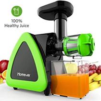 Entsafter Gemüse und Obst, Homever Slow Juicer Ausgestattet mit Einem Geräuscharmen Motor für Erstell[...]