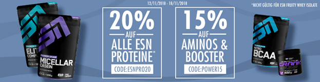 Bild zu Fitmart: 20% Rabatt auf alle ESN Proteine und 15% Rabatt auf Aminos & Booster