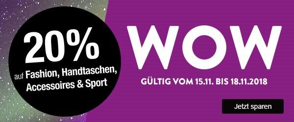 Bild zu Galeria Kaufhof: 20% Rabatt auf Fashion, Handtaschen, Accessoires und Sport