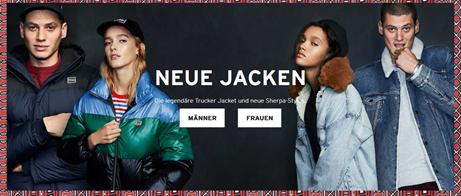 Homepage Levi DE