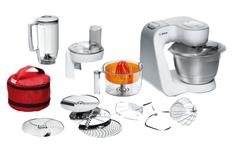 Bild zu BOSCH MUM 54W41 Küchenmaschine (3.9 Liter, 900 Watt, Weiß/Silber) für 199€ (Vergleich: 241,98€)
