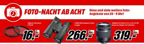"Bild zu MediaMarkt ""Foto Nacht ab Acht"", so z.B. Hama UV Profi Line Wide Nano 52mm für 16€"