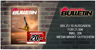 """Bild zu 10 Ausgaben der Zeitschrift """"THE RED BULLETIN"""" für 21,90€ + 20€ MediaMarkt Gutschein"""