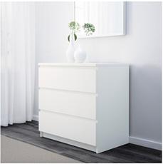 Bild zu IKEA: MALM Kommode mit drei Schubladen in versch. Farben für je 49,99€ zzgl. eventuell Versand (nur für Family Mitglieder)