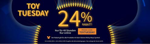 Bild zu shopDisney: 24% Rabatt auf ausgewählte Spielzeuge & Kuscheltiere
