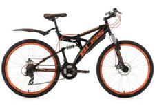 Bild zu Mountainbike Fully 26 Zoll 21-Gang Bliss Schwarz-Orange für 178,51€ (Vergleich: 208,89€)