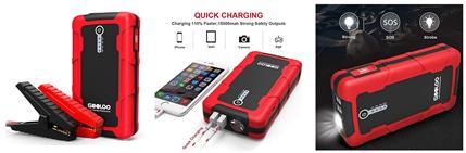 Bild zu GOOLOO 12V (15000mAh) tragbare Auto Starthilfe/Akku Ladegerät mit Taschenlampe für 49,39€
