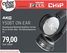 Bild zu AKG Y50BT Silver On Ear Kopfhörer mit Bluetooth für 69€ (Vergleich: 129€)