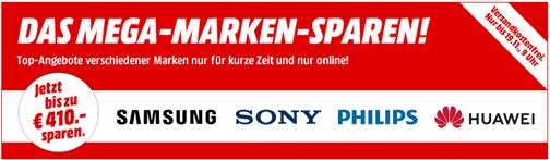 Bild zu MediaMarkt: Mega Marken Sparen mit Angeboten von Samsung, Sony, Philips und HUAWEI