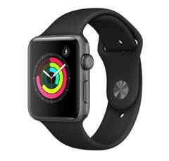 Bild zu Apple Watch Series 3 42mm Aluminiumgehäuse Space Grau Sportarmband Schwarz für 278,30€ inklusive Versand