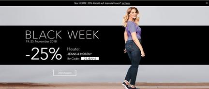 Bild zu Sheego: nur heute 25% Rabatt auf Jeans & Hosen