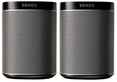 doppelpack sonos play 1 lautsprecher f r je 299. Black Bedroom Furniture Sets. Home Design Ideas