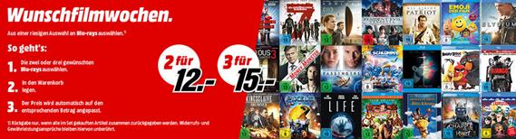 Bild zu MediaMarkt: 3 Blu-rays für 15€ oder 2 Blu-rays für 12€