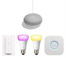 Bild zu Philips Hue Starter Set lite + Google Home Mini für 99€ (Vergleich: 131,88€)