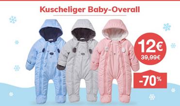 Ausverkauf beliebt kaufen Turnschuhe 2018 vertbaudet: Warmer Baby-Overall mit Fleecefutter für je 12 ...