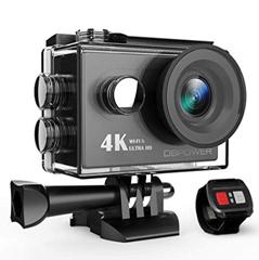 Bild zu DBPOWER Action Cam 4K mit WiFi, 2.0 Zoll FHD LCD Display, wasserdicht inkl. 2 Batterien und Zubehör Kit für 30,09€