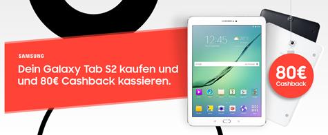 Bild zu Samsung Galaxy Tab S2 9.7 LTE für einmalig 49,95€ im Vodafone DataGo M mit 5 GB LTE Datenflat für 17,49€/Monat (+ 80€ Cashback)