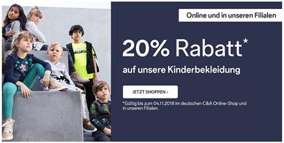 Bild zu C&A: 20% Rabatt auf Kinderbekleidung (inklusive Babykleidung)