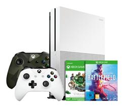 Bild zu Xbox One S 1TB Konsole + 2. Controller + 1 Jahr Game Pass + Battlefield 5 + Red Dead Redemption 2 für 303,99€ (Vergleich: 374,42€)