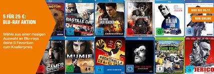Bild zu Saturn: 5 Blu-rays für 25€ (zzgl. eventuell 1,99€ bzw. 4,99€ Versand)