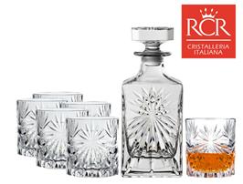 Bild zu RCR Oasis Whiskeygläser im 6er-Set + Dekanter für 35,90€ (Vergleich: 44,92€)