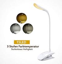 Bild zu TOPELEK dimmbare LED Klemmleuchte für 9,79€