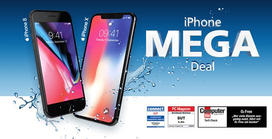 Bild zu o2 Free M (10GB LTE Datenflat, SMS und Sprachflat) mit iPhone 8 (0€) für 34,99€/Monat oder mit iPhone X (0€) für 49,99€/Monat