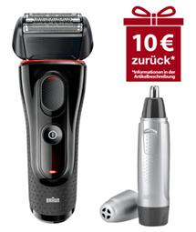 Bild zu Braun Series 5-5030s Akkurasierer + Braun EN 10 Ohr- und Nasenhaartrimmer für 62,91€ + 10€ Cashback (Vergleich: 74,36€)