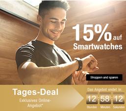 Bild zu Galeria Kaufhof: nur heute 15% Rabatt auf Smartwatches