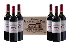 Bild zu Weinvorteil: 6 Flaschen Château Graves de Pez – Saint-Estèphe AOC in einer edler Holzkiste für 84,96€