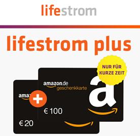 Bild zu 120€ Bonus für Strom-/Gas von lifestrom (monatlich kündbar!)