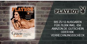 """Bild zu 12 Ausgaben der Zeitschrift """"Playboy"""" für 78€ + 65€ Amazon.de Gutschein als Prämie"""