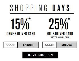Bild zu s.Oliver: 15% Rabatt auf alles – für s.Oliver Card Inhaber (kann kostenlos online erstellt werden) sogar 25%