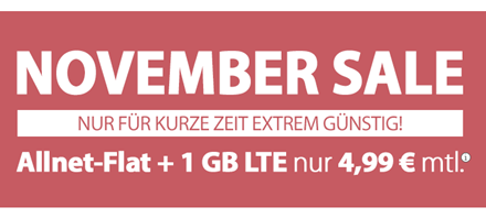 Bild zu PremiumSIM: monatlich kündbar mit 1GB LTE Datenflat und Sprachflat für 4,99€ im Monat + keine Anschlussgebühr