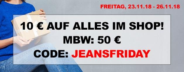 Bild zu Jeans Direct Black Week: 10€ Rabatt auf alle Artikel im Shop – auch bereits reduzierte