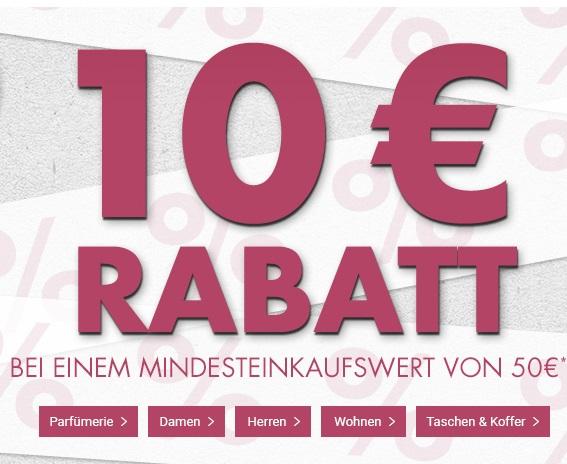Bild zu Nur heute: 10€ Rabatt auf (fast) alle Artikel im Karstadt Online-Shop (ab 50€ Bestellwert)