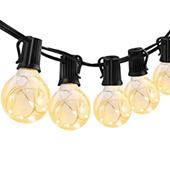 Bild zu ECOWHO 10 Meter Lichterkette mit 30 LED Kugeln (warmweiß) für 25,34€ inkl. Versand