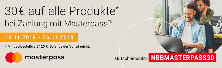 Bild zu Notebooksbilliger: 30€ Rabatt auf alle Produkte (MBW: 120€ und Zahlung mit MasterPass)