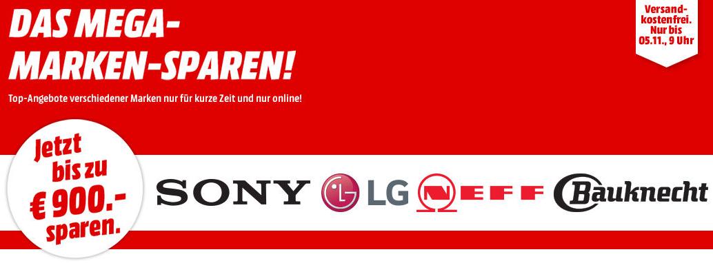 Bild zu MediaMarkt: Mega Marken Sparen mit Angeboten von Sony, LG, Neff und Bauknecht