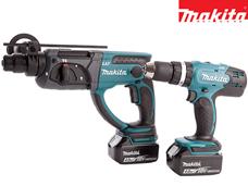 Bild zu Makita 18 V Kombi-Bohrer und Bohrhammer mit 2x 4,0 Ah Akku für 348,90€ inkl. Versand (Vergleich: 420,90€)