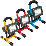 NINETEC 10 W LED-Akku-Flutlichtstrahler, gelb günstig online kaufen Plus de