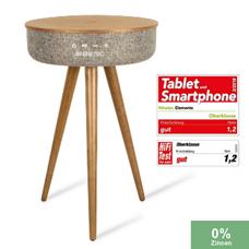 Bild zu Plus: Ninetec Elements Premium Bluetooth Lautsprecher und Tisch (Wallnuss) für 179,99€ inkl. Versand (Vergleich: 242,20€)