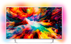PHILIPS 65PUS7363 LED TV (Flat, 65 Zoll, UHD 4K, SMART TV, Android TV)