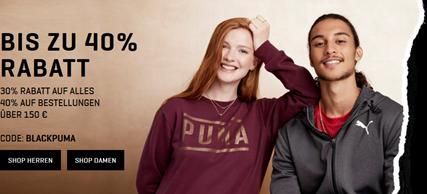 Bild zu [nur noch heute] PUMA: 30% Rabatt auf ALLES und 40% ab 150€ Bestellwert