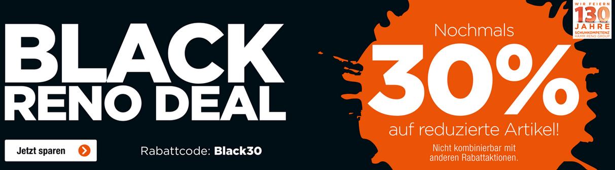 Bild zu Reno: 30% Extra-Rabatt auf bereits reduzierte Artikel im Black Deal