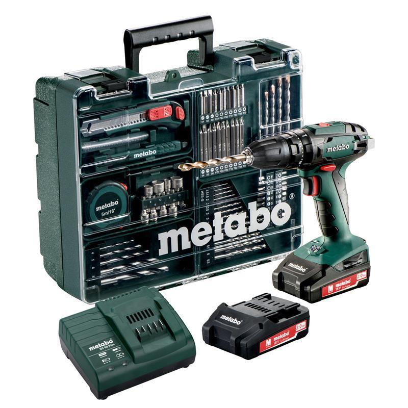 Bild zu Metabo Akku-Schlagbohrschrauber SB 18 mit 2 x2.0 Ah Akkus, Ladegerät und Koffer für 116,95€ (Vergleich: 147,56€)