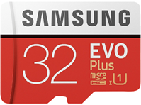 SAMSUNG Evo Plus, 32 GB, Mini-SDHC, Micro-SDHC Speicherkarte, 95 MB s